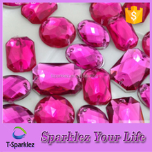 Acrylic Beads Sew On with Two Holes for Sofa Accessories TS 922
