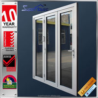strong and durable AS2047 aluminium bi-fold doors factory with 10 years Quality assurance