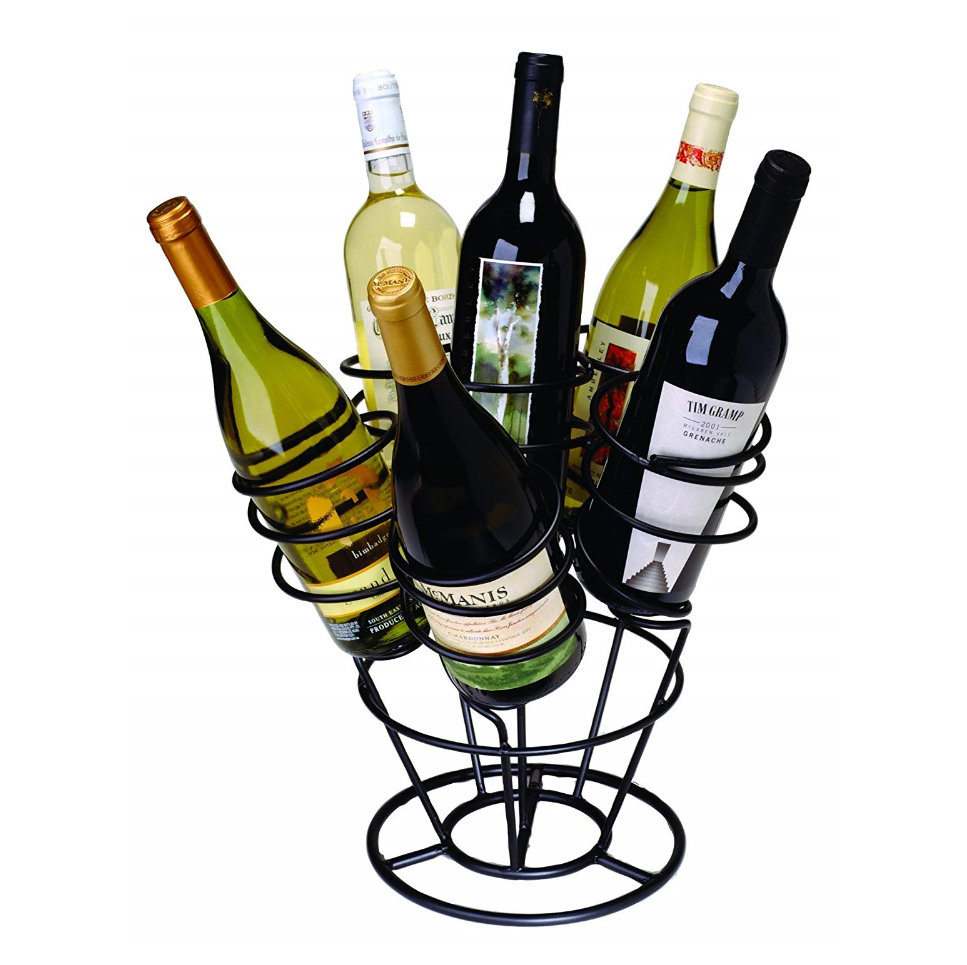 Decorative 6 Bottle table iron stainless steel wire wine rack