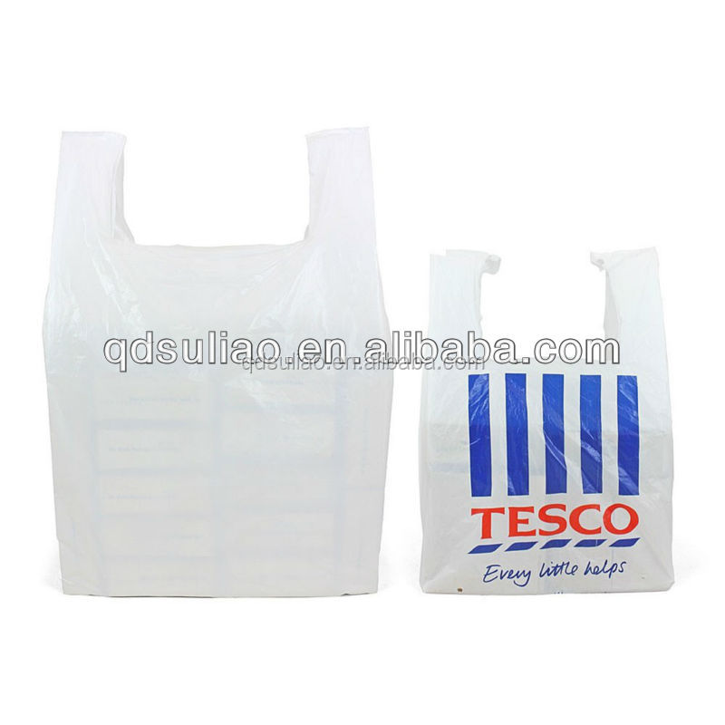 environmentally friendly degradable singlet style carrier plastic bag