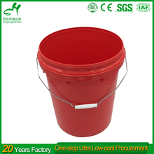 Top Quality Transparent 10 Gallon Plastic Bucket With Lid With Handle