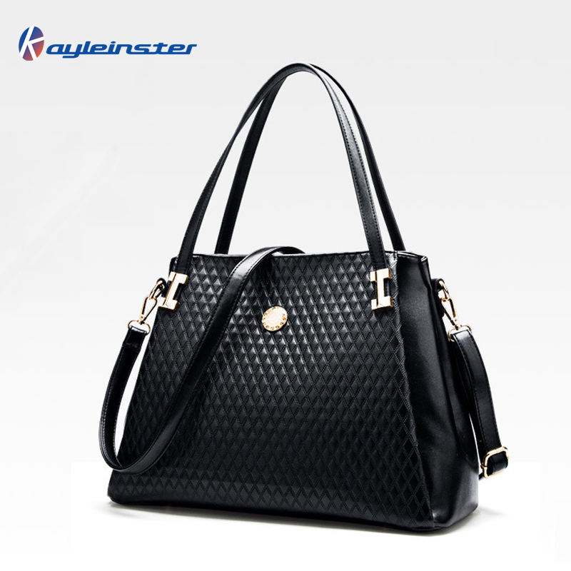 New 2015 Fashion Genuine Leather Women Handbag Classic Embossed Plaid women Shoulder Bag Luxury Women Bag Large Capacity Tote