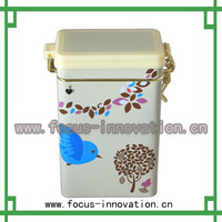 Hot sale custom printed metal tea tin box