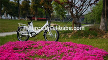 New Easy hot selling cheap motorized bicycle black or white folding electric bike electric family bike RSEB636