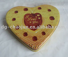 metal attractive heart shape tin box
