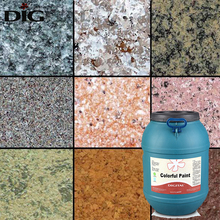 Exterior decorative wall granite stone rock slice spray paint