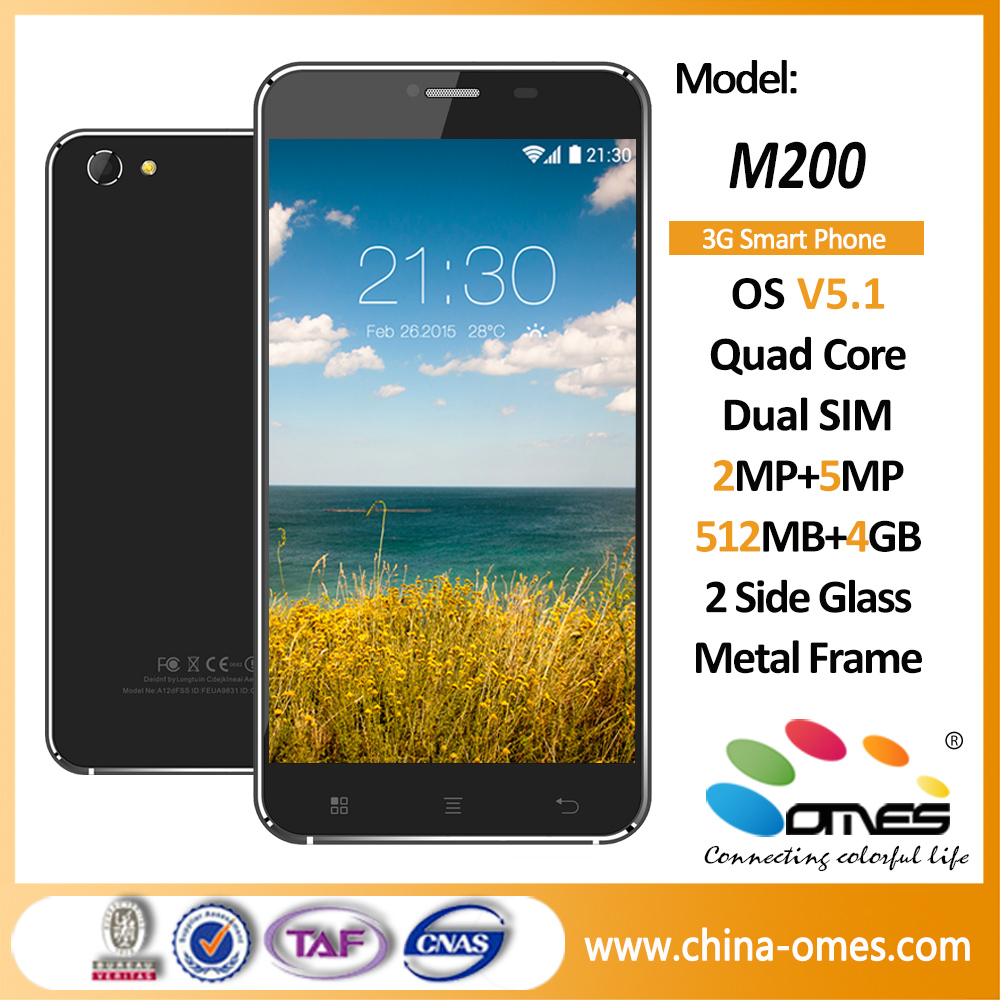 M200 Low price Android 5.5 inch big touch screen mobile phones / 5.5 inch big screen dual sim Smartphone