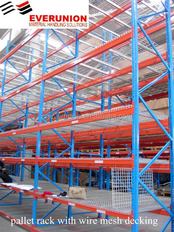 heavy duty steel pallet racking system with Q235b steel