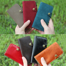 Leather belt holster leather buttons phone case for iPhone6