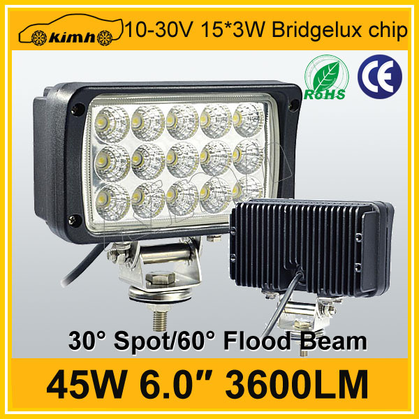"Excellent 3600LM 6"" 45w worklight led"