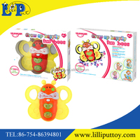 Interesting baby musical cartoon mini bee toy with light