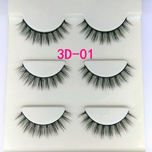 3D01 three-dimensional multi-layer false eyelashes soft and comfortable high-quality clustered messy cross section lashes