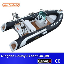 low price deep V type fiberglass hull inflatable boat