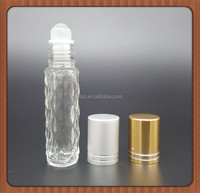 Small Roll On Tube Glass Bottle With metal Roller Ball And Metal Cap