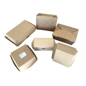 Kraft Paper Lunch Box Food Packing Box Disposable Box