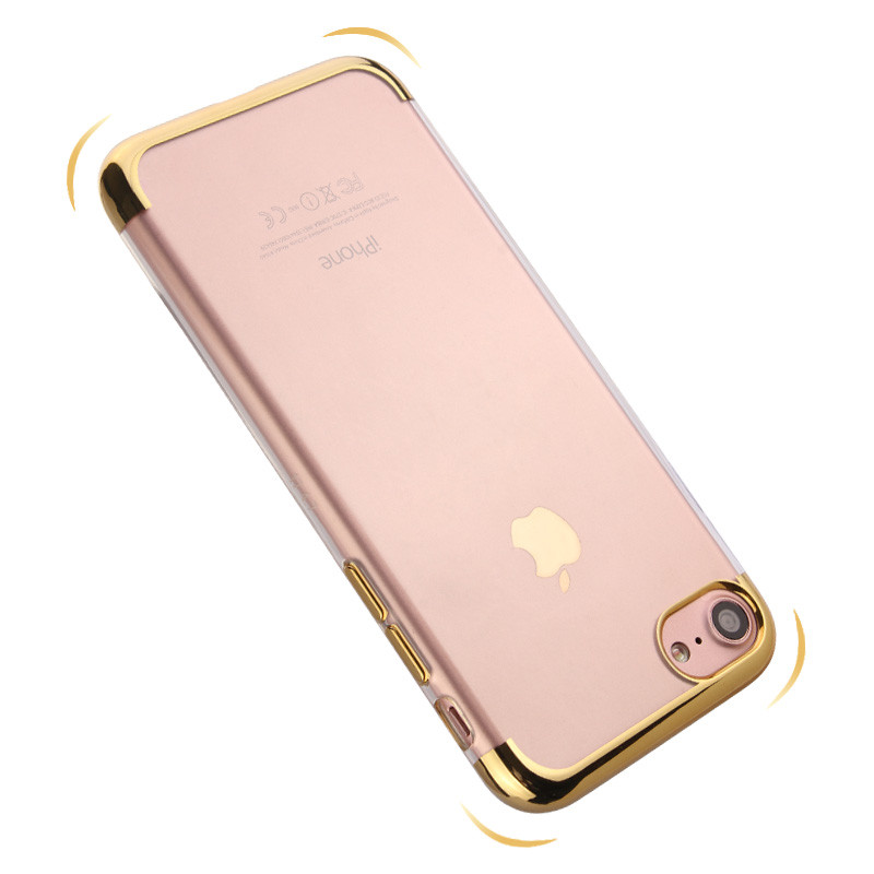Guangzhou wholesale luxury electroplating frame tpu cover for iphone 6 7 7 plus