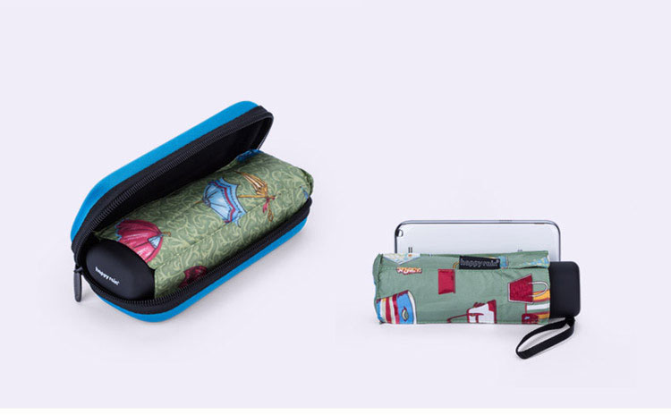 wholesale printed Manual open promotional 5 foldable umbrella golf umbrella with case