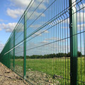 Welded wire mesh coated painting fence