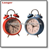 modern promotion metal twin bells table clock LG8622
