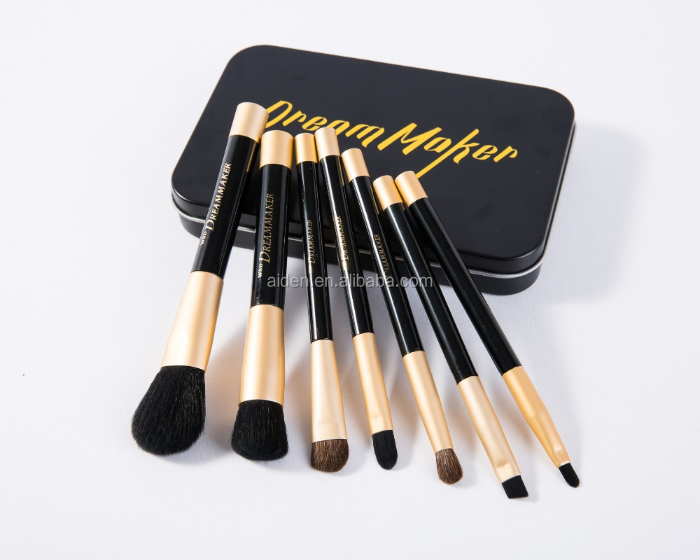 AIDEN-Factory 7pcs New Magnet makeup brush stand on metal tin box