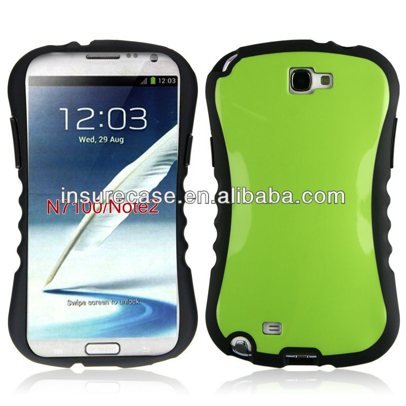 Green color Anti-shock plastic iFace phone case for Samsung Galaxy Note 2 N7100
