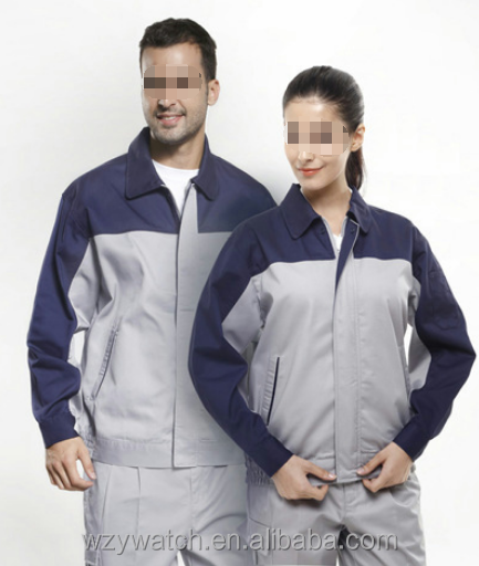 Custom made breathable sweat absorption overalls good quality wear-resistant repair factory clothes
