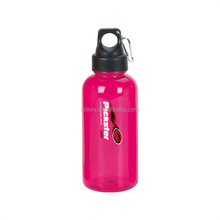 Fashionable BPA Free large colorful mineral water plastic carabiner bottle