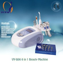 Q06 6 in 1 led color light therapy multifunction beauty machine microcurrent galvanic for instant face lift