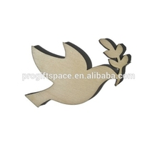 2017 natural wooden peace dove christmas decoration shape for DIY made in China