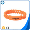 Custom twist silicone wristands rubber band bracelet
