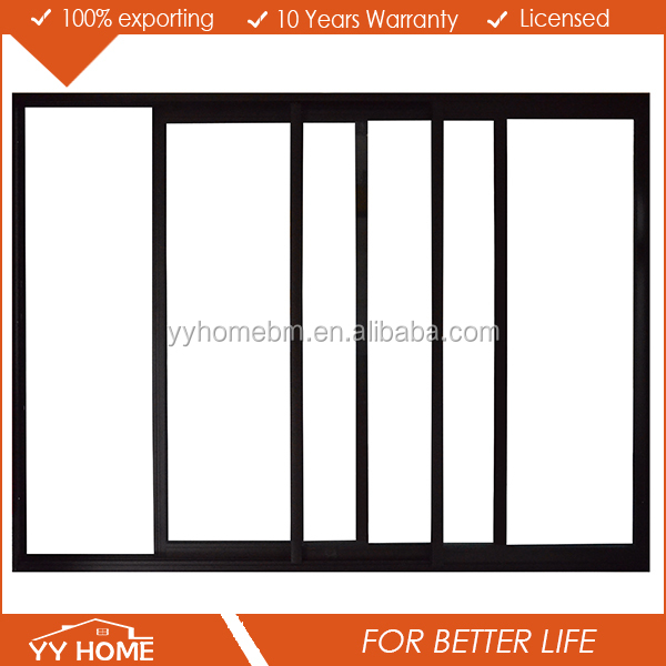YY Home 3 three panel large aluminum sliding glass door window tint