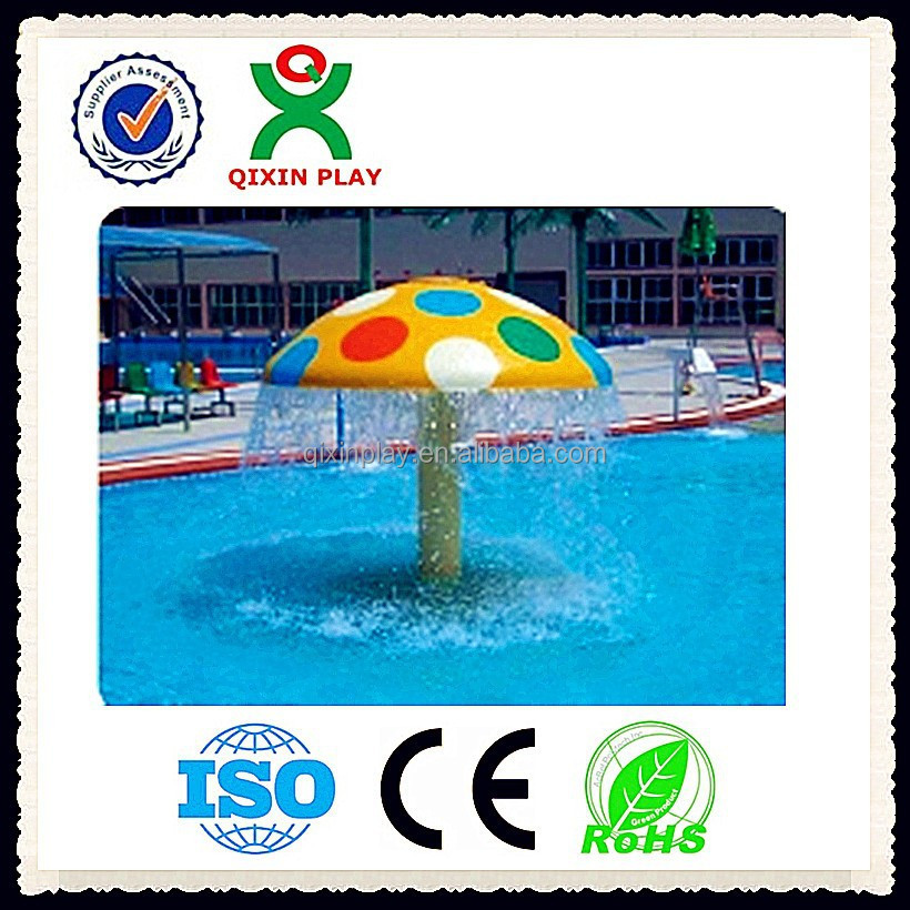 Alibaba best selling umbrella water park fountain/mushroom for swimming pool/Water Park Fiberglass Mushroom Fountain QX-079A