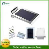 4 color case solar motion sensor led outdoor wall light