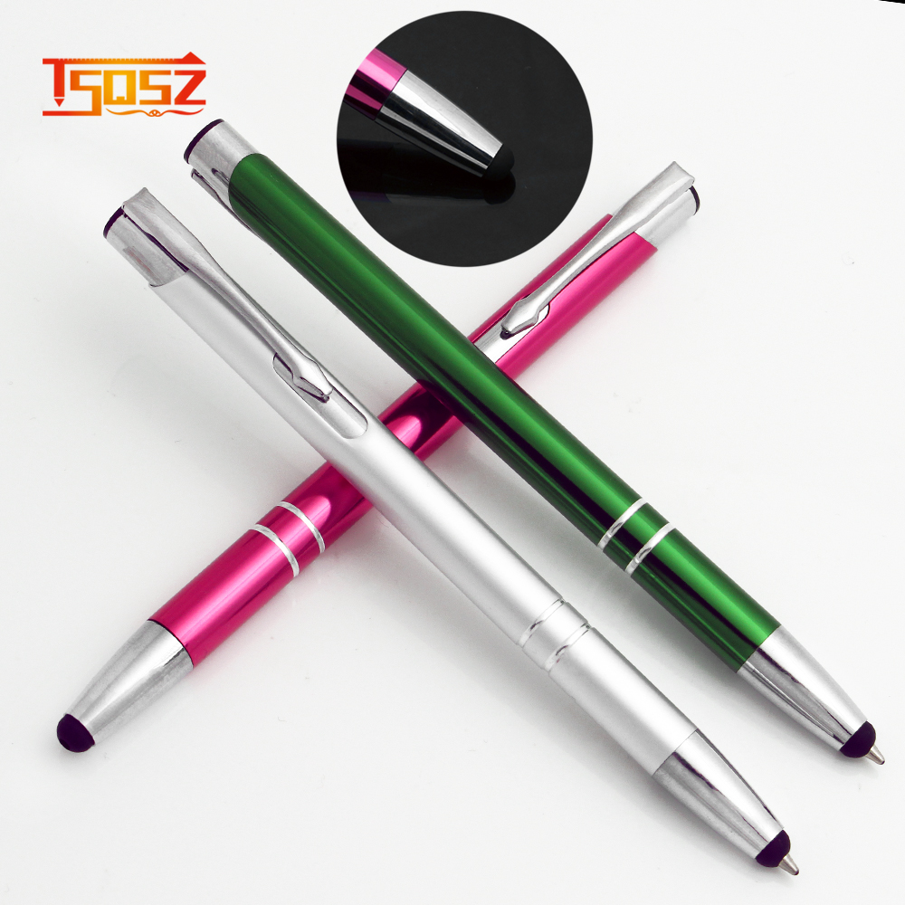 New luxury bamboo ballpoint pen and hot sale metal stylus pen
