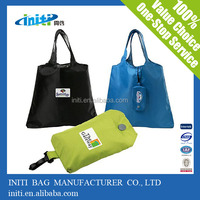 hot sale eco polyester shopping bag with hand length handle sealing& handle and offset printing surface