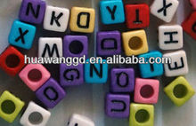 Colorful plastic alphabet beads