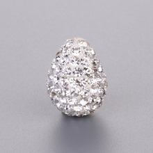 Water Drop Shaped Rhinestone Loose Crystal Bead Cheap Wholesale Shamballa Beads