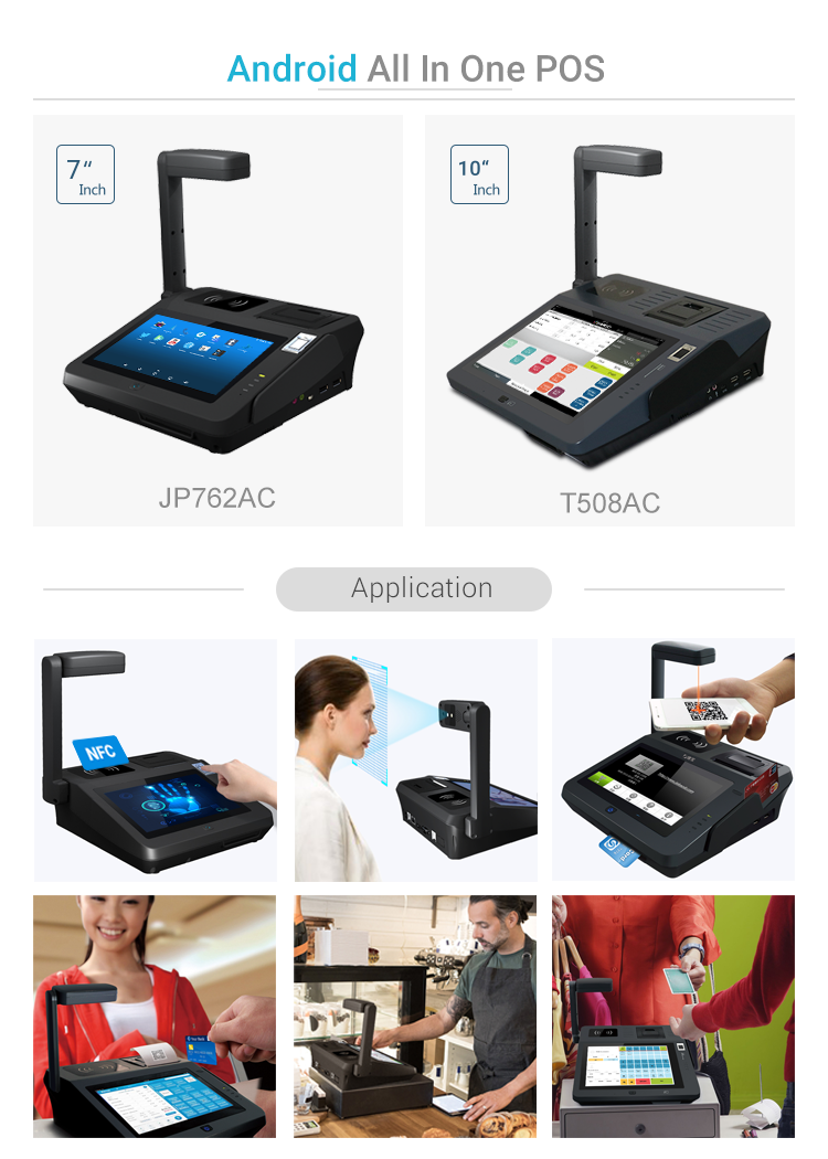Customized Face Recognition NFC/RFID Reader Fingerprint 1D/2D Barcode Scan All in One Wifi Bluetooth POS All in One