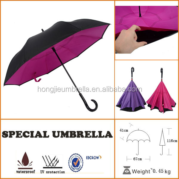 hot selling latest innovation fashion reverse umbrella for cars