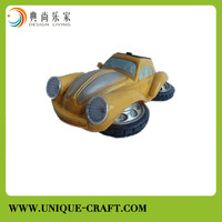 2015 cheap price resin car with Solar light for home decoration