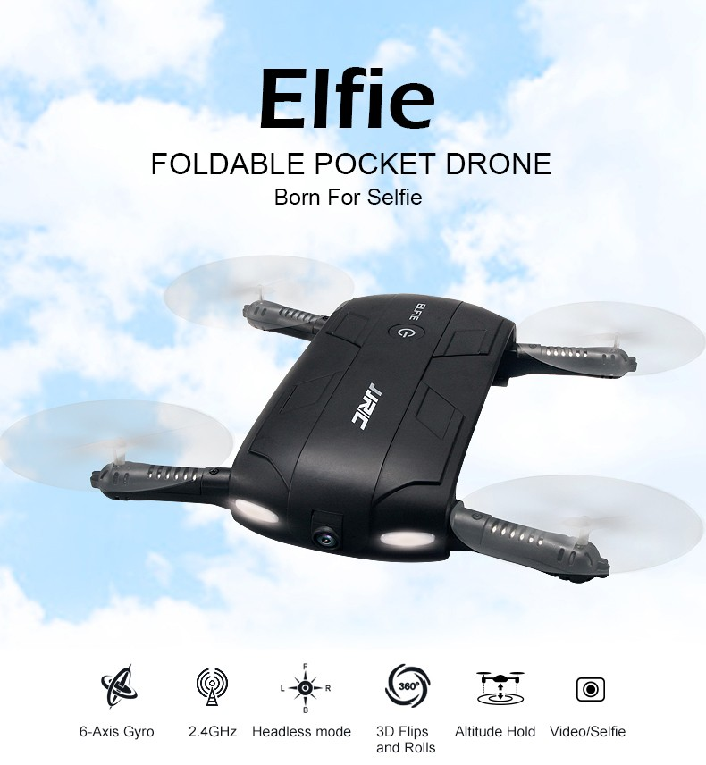 Outstanding quality wifi camera real-time transmission one key to return mini rc drone JJRC H37 Elfie