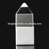 12ml 10ml white painated gel nail polish bottle with pencil top cap nail lacquer bottle for soak off gel