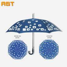 RST water discoloration deluxe straight umbrella color changing umbrella