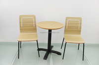 Newly Simple Designed Restaurant Wooden Round Dining Table and Chairs(FOH-CXSC75)