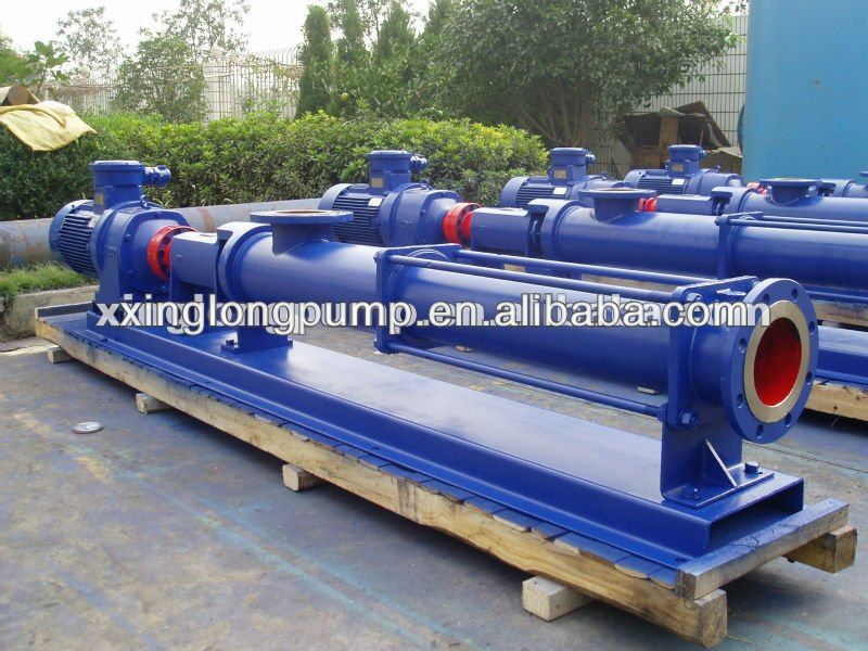 Xinglong progressive cavity mono single screw pump used for sewage sludge, paper pulp, food,etc.