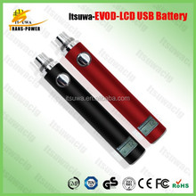 Alibaba consumer electronics 1300mah evod lcd passthrough
