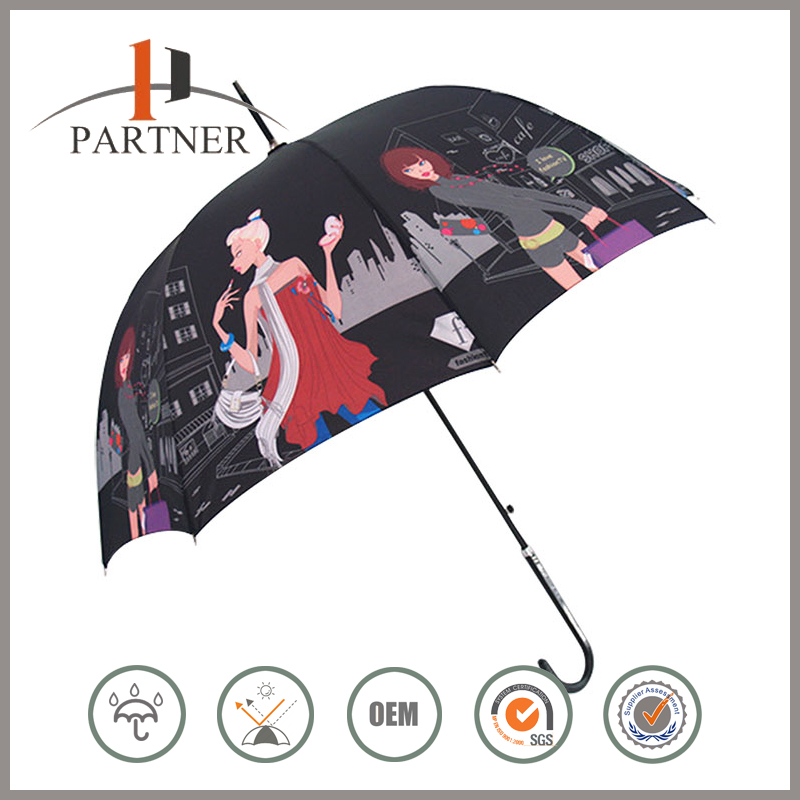 Cheapest Custom Photo Print Sex Girls Pictures Golf Umbrella