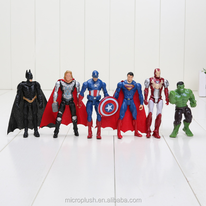 6pcs/set Approx 10cm Super Hero action figure set Toys