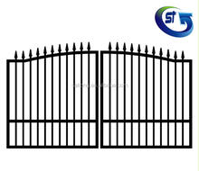 G3015S Sliding Gate Design Spear Fencing Spear Top Metal Fence Panel Spear Picket Fence Gate