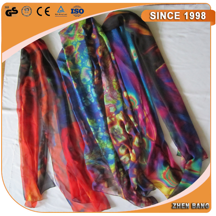 Factory Direct Custom Digital Printed of silk scarfs